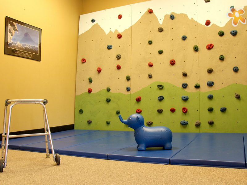Orthopedic Rock Climbing Walll at Carolina Pediatric Therapy's Hendersonville Orthopedic clinic